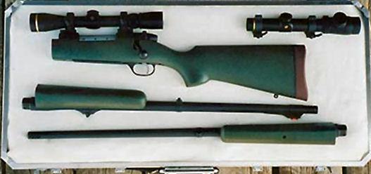 Custom takedown rifles, Randy's Custom Rifles  multi-barrel rifle